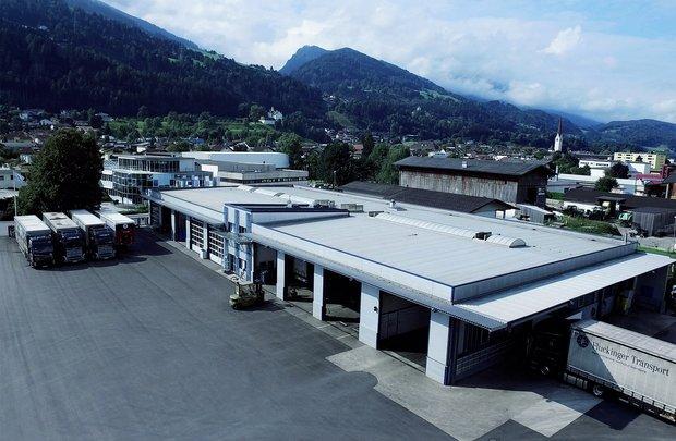 Fluckinger Transport lager i Volders i Tyrolen