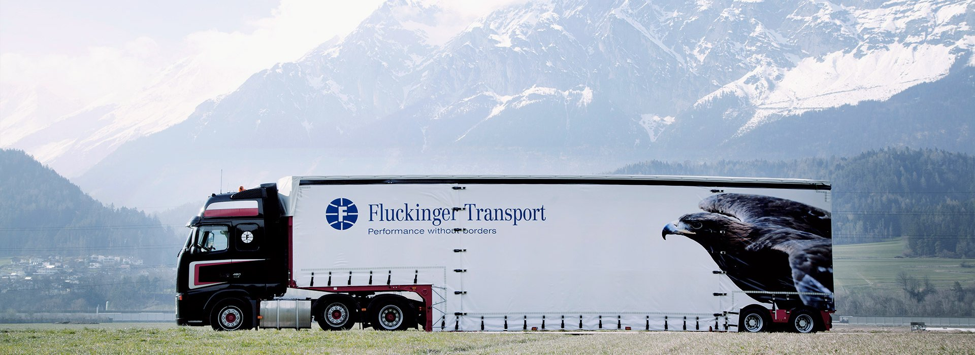 Fluckinger Transport truck in Tirol