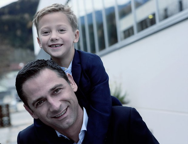 Andreas Fluckinger with son Andrä