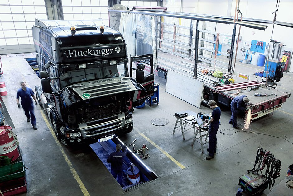 Fluckinger Transport truck maintenance